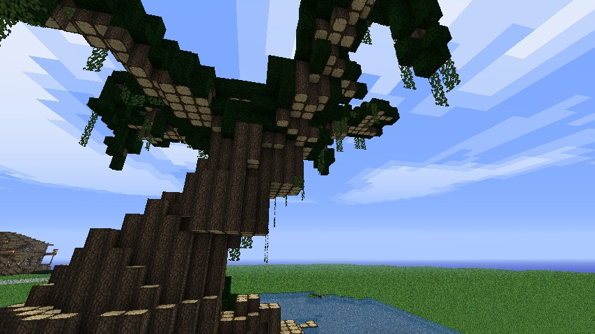 how to build minecraft giant tree