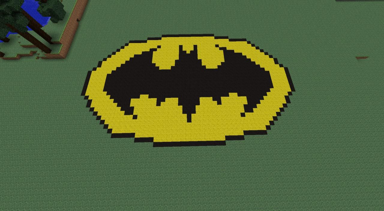 Batman logo minecraft project batman logo buycottarizona