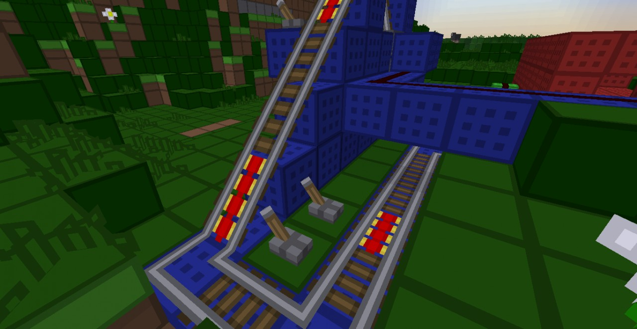 how to build a minecart track