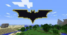 The Bat Symbol (i.e. Myjobistotalk's signature) Minecraft Map & Project