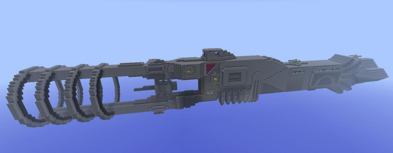Liberty Siege Crusier From Freelancer Minecraft Project