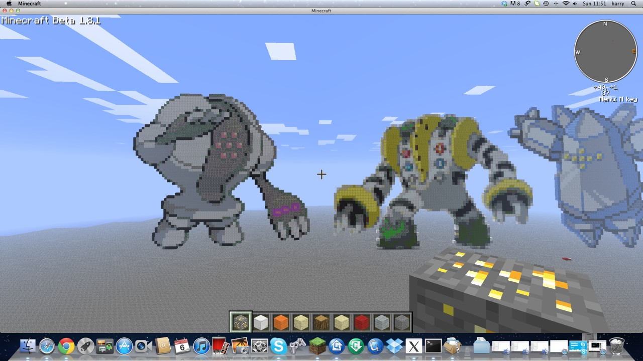 regirockregiceregigigas and registeel minecraft project