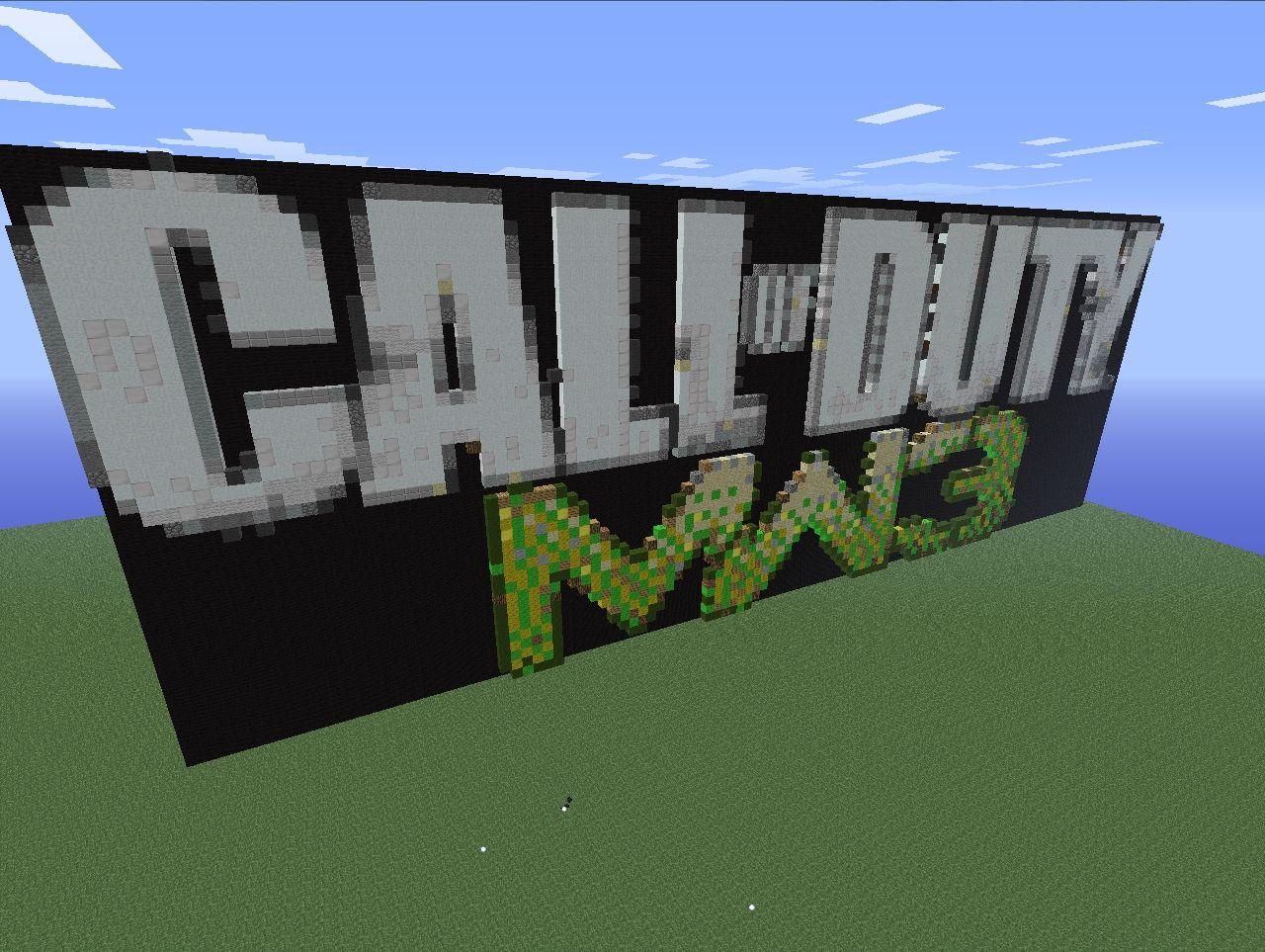 Call of duty modern warfare 3 logo minecraft project