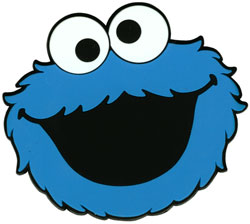Cookie Monster Face 2D Art Minecraft Map & Project