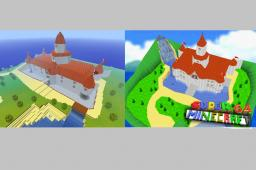 Super Mario 64 Peach's Castle Minecraft Map & Project