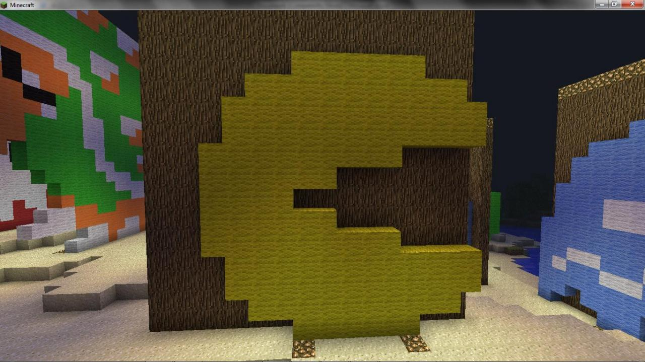 Pacman Pixel Art Minecraft Pixel Art Part Two Minecraft