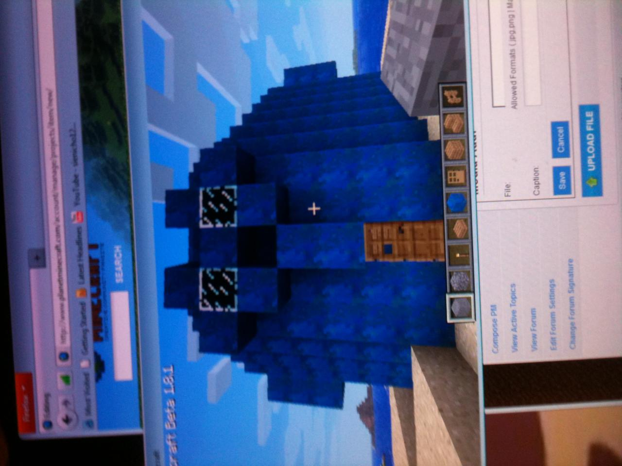 minecraft how to make squidwards house