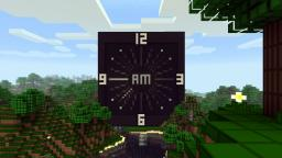 Piston Analog Clock with Animated Hands Minecraft Project