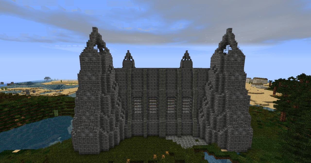 Exterior castle wall minecraft project for Minecraft exterior wall design