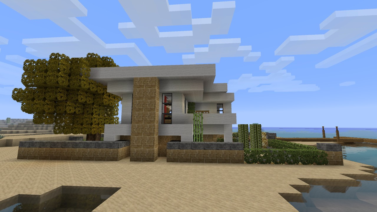 Minecraft modern stone house tutorial - House and home design