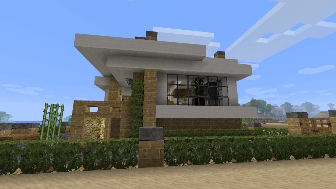 Modern House Tutorial Beach Town Project Minecraft Project