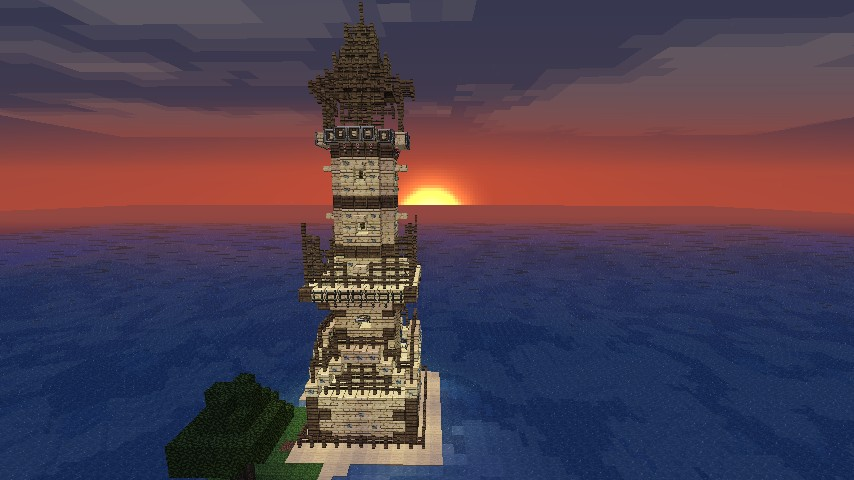 Sandstone Tower Minecraft