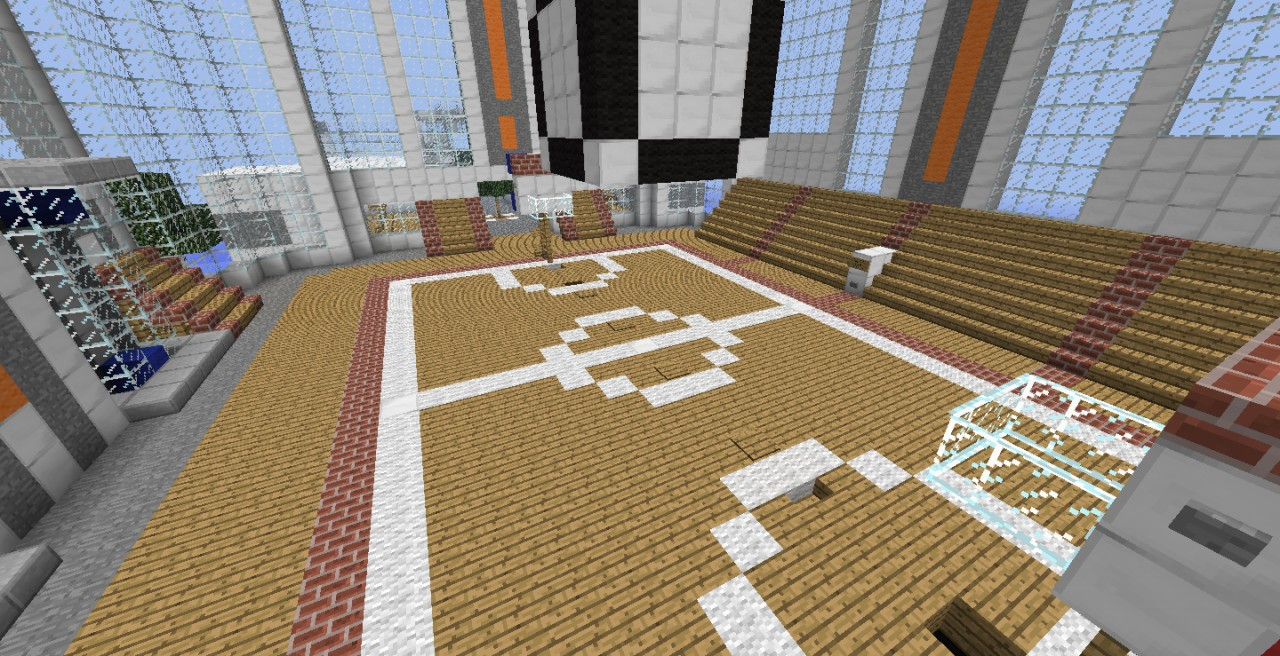 Minecraft basketball minecraft project for Build your own basketball court