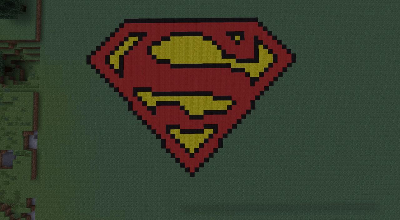 superman logo minecraft project