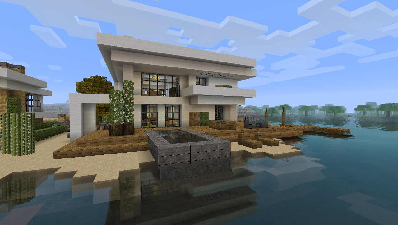 Modern House 5 Beach Town Project Minecraft Project