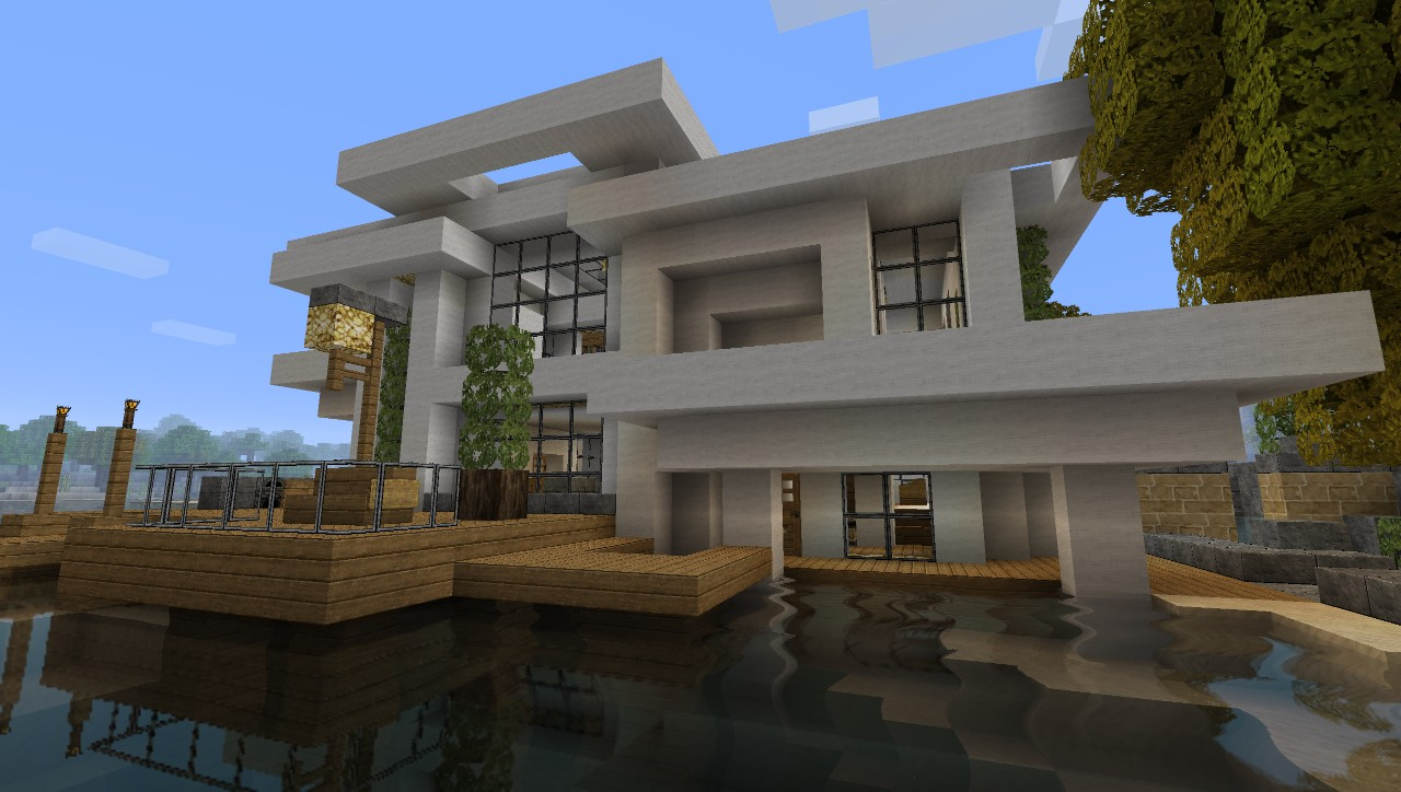 Modern house 5 beach town project minecraft project for Modern house 5