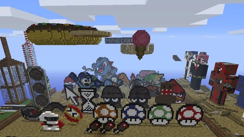 pixel art town