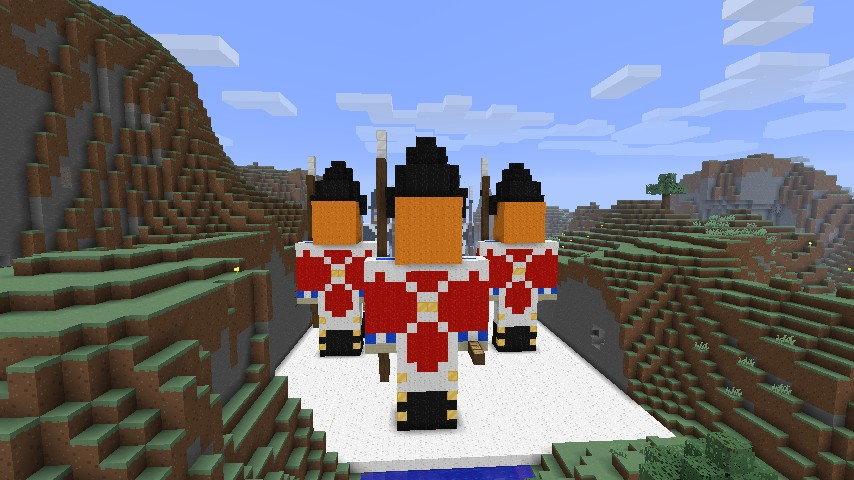 Rear view of the redcoats (stop staring)