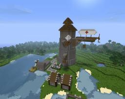 Sanctaphrax Airbase Minecraft Map & Project
