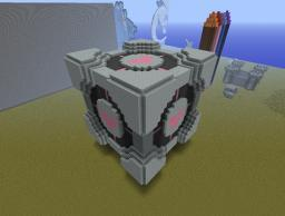 Weighted Companion Cube Minecraft Map & Project