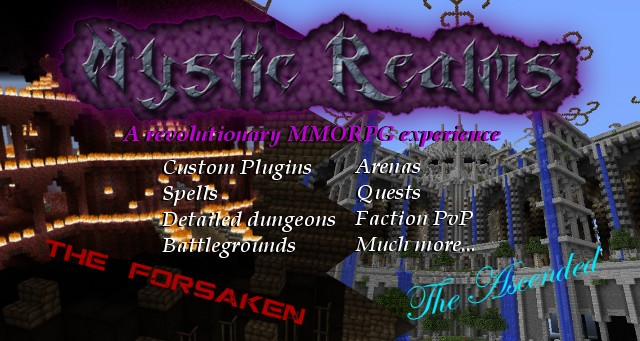 mystic realms full featured mmorpg server minecraft server