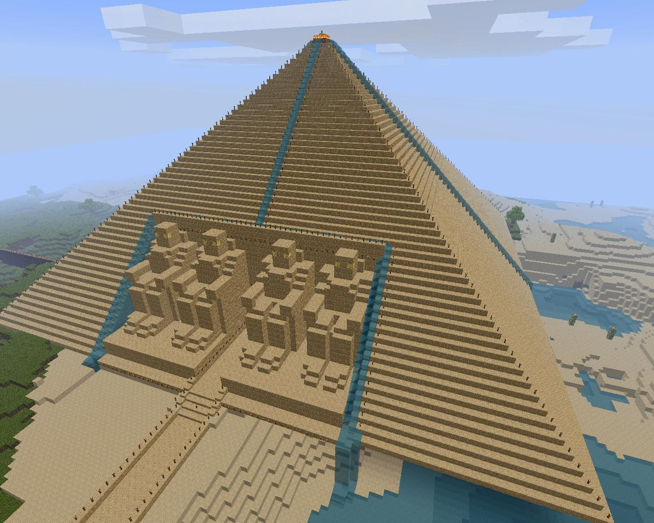Get Blueprints For My House Pyramid With Abu Simbel Temple Statues Minecraft Project