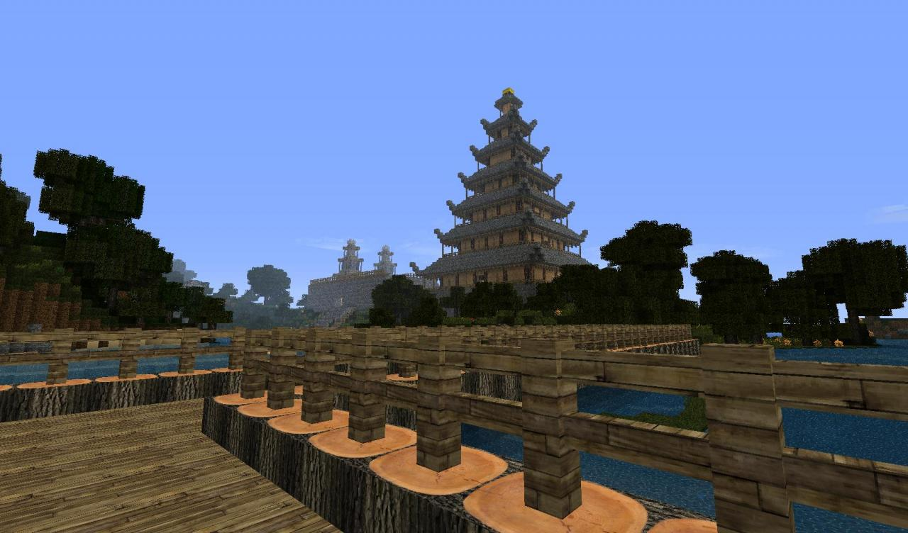 The gallery for minecraft blueprints for a castle - Minecraft japanese village ...