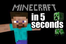 Minecraft in 5 seconds Minecraft Blog