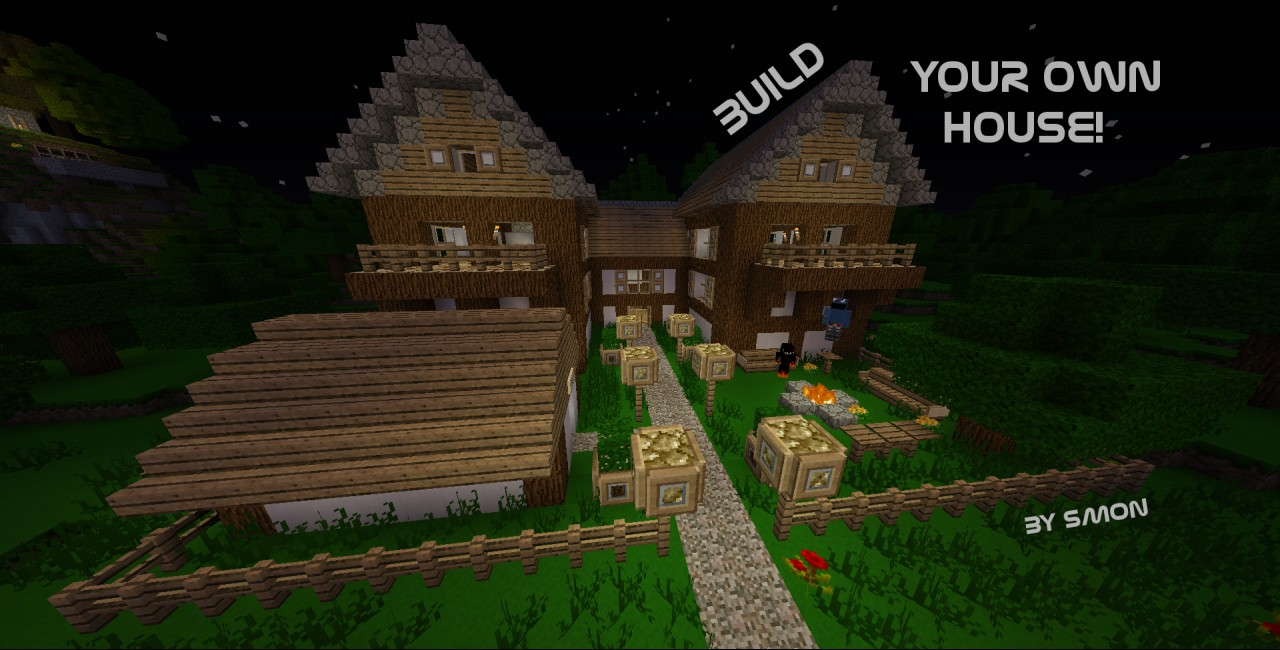 Explore our endless freebuild world and build your own shelter! (Picture: /warp forest)