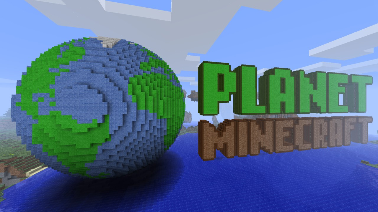 Huge Planet Minecraft Globe Amp Logo In 3d Minecraft Project