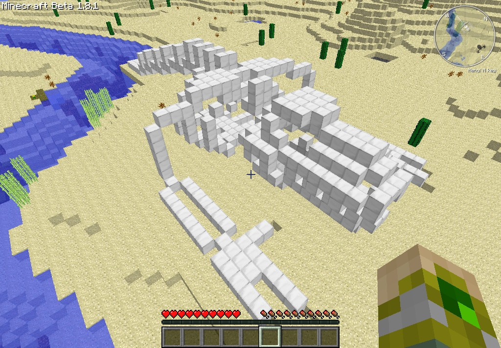 How to make a fossil in minecraft
