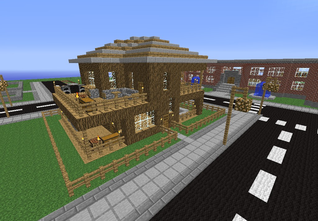 New Modern Wooden House 2 Big Town Project New Modern Wooden House 2