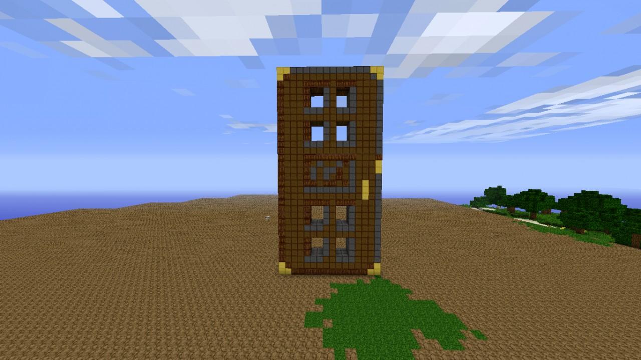 Front view of the door I built & A... Big door Minecraft Project