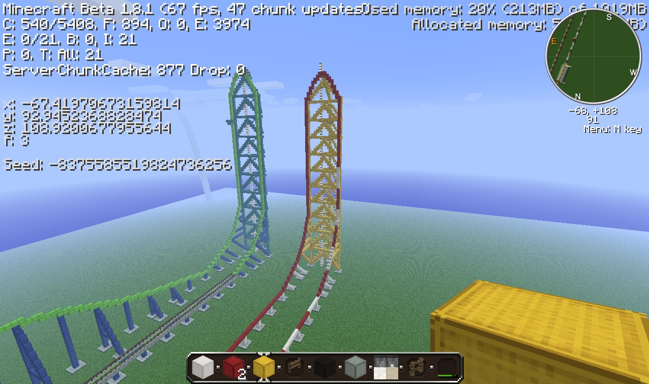 Top thrill dragster minecraft project - Ka che minecraft ...