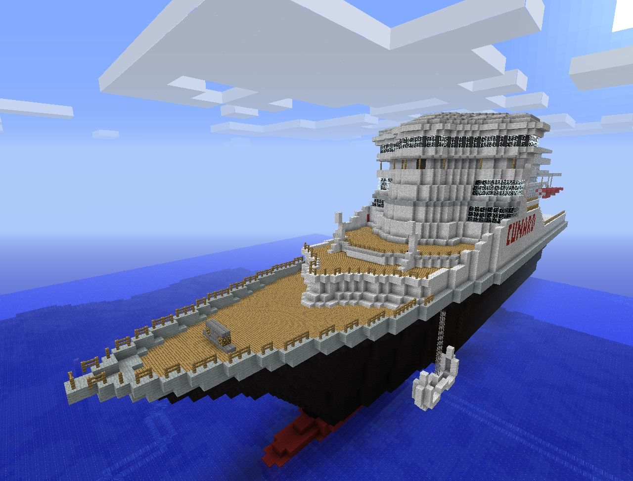 Rms Queen Mary 2 Minecraft Project