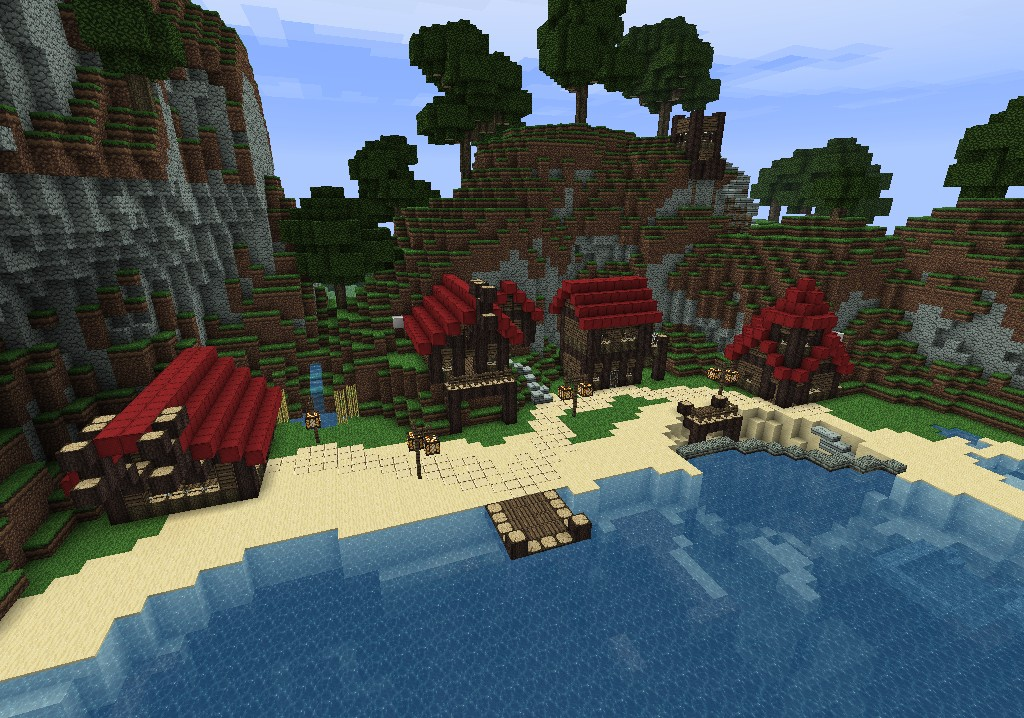 minecraft fishing house - 1024×718