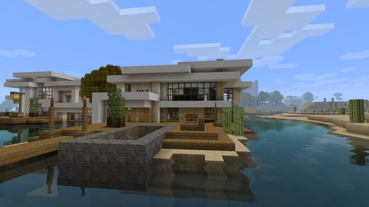 Minecraft Modern Beach House Modern house tutorial 2