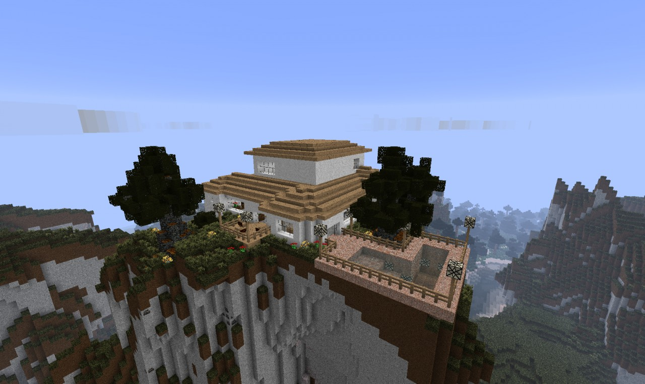 Clean modern mountain house minecraft project - House in the mountains ...