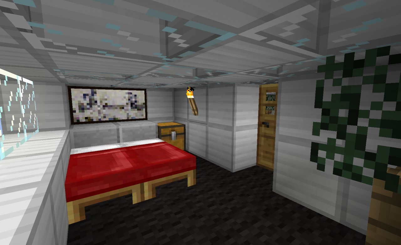 Modern house furnished minecraft project for Modern house projects