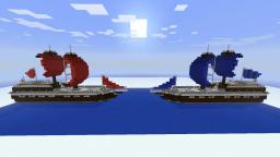 The Pirate Ship Battle For Multiplayer Minecraft Map & Project