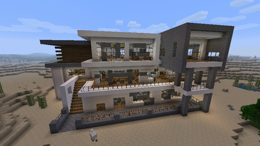 Minecraft modern mansion schematic minecraft mantions for Minecraft big modern house schematic