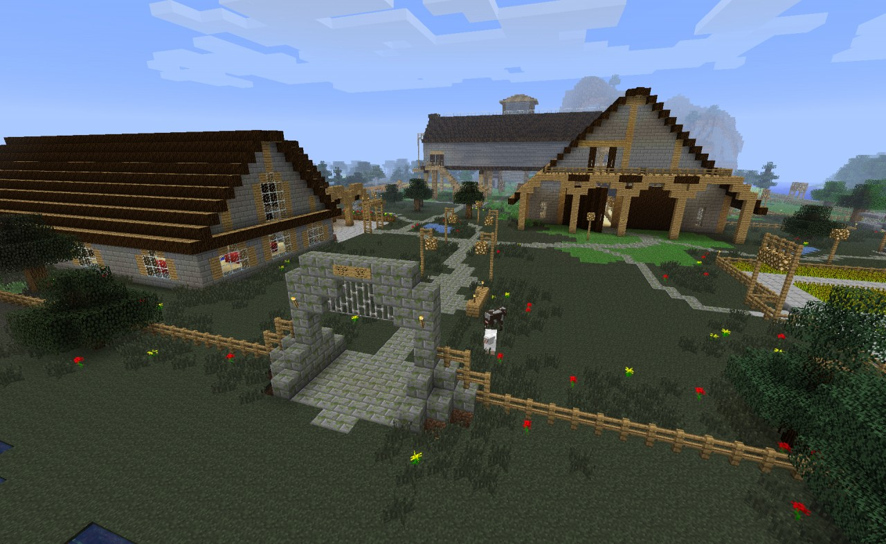 how to get farm animals in minecraft