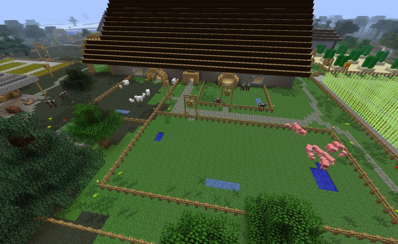 рабочая площадь фермы майнкрафт #3