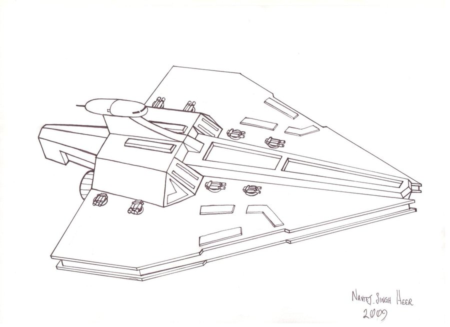 Acclamator Star Destroyer Minecraft Project