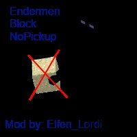 Enderman Block Nopickup - NOW 1.2.5 Minecraft