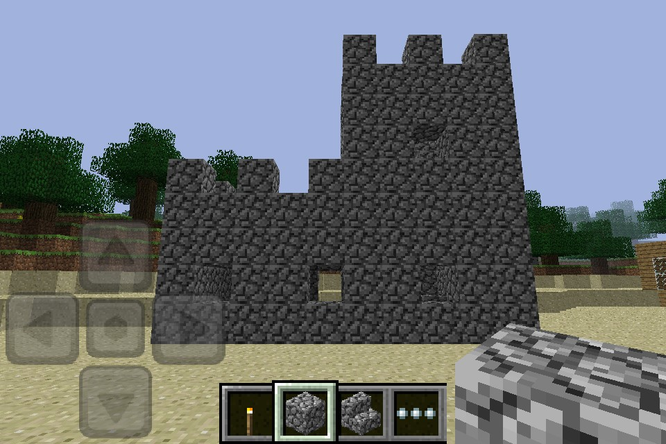 Small castle minecraft pe minecraft project