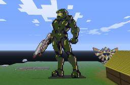 Master Chief w/ Assault Rifle Minecraft Map & Project