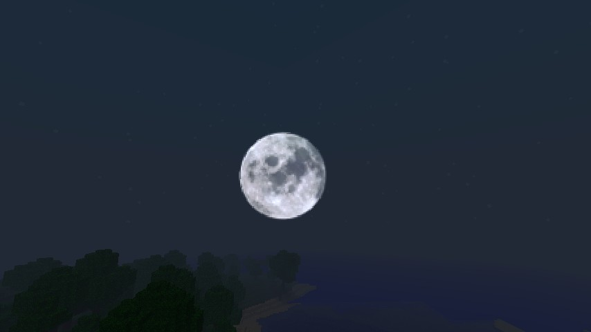 The moon is so pretty! :D