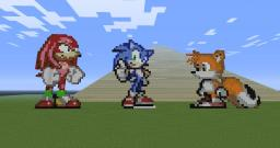 Sonic, Tails, and Knuckles Minecraft Map & Project