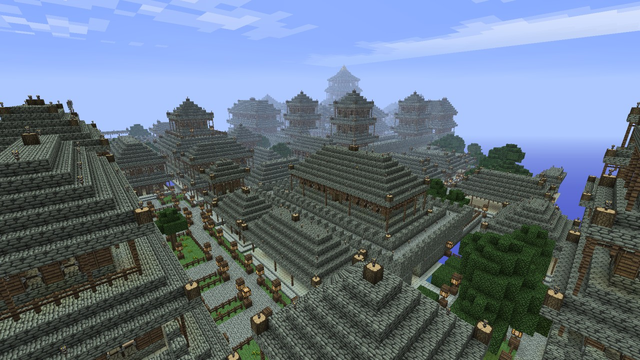 Ancient Chinese City Of Xi An Minecraft Project
